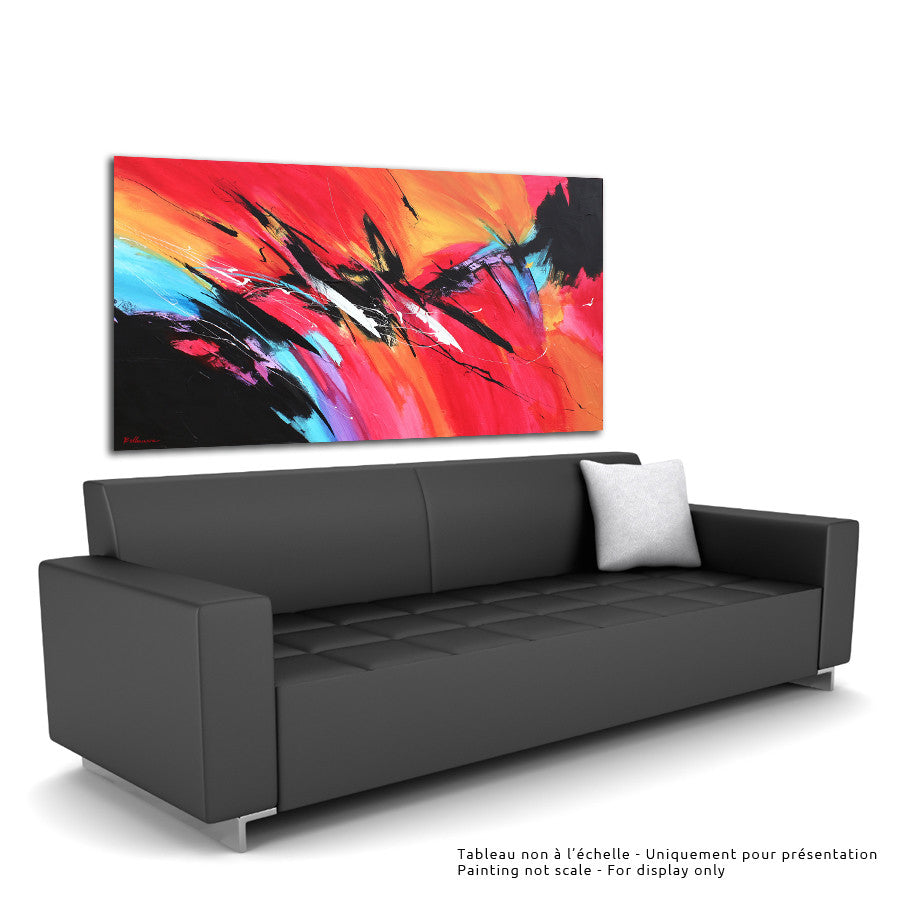 Kaskada 36x60 po/in Painting - Unique Abstract Art by Pierre Bellemare
