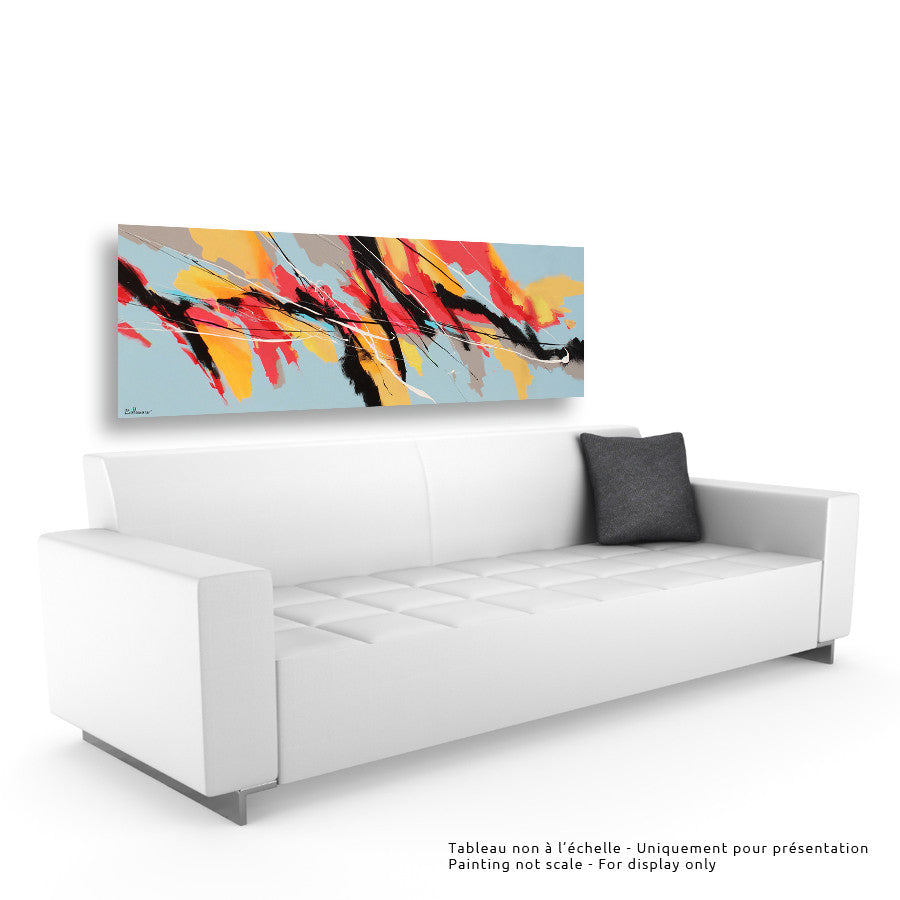 Keukenhof 24x72 po/in Painting - Unique Abstract Art by Pierre Bellemare
