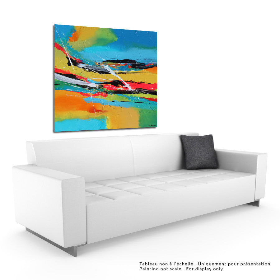 Keukhenof 48x48 po/in Painting - Unique Abstract Art by Pierre Bellemare