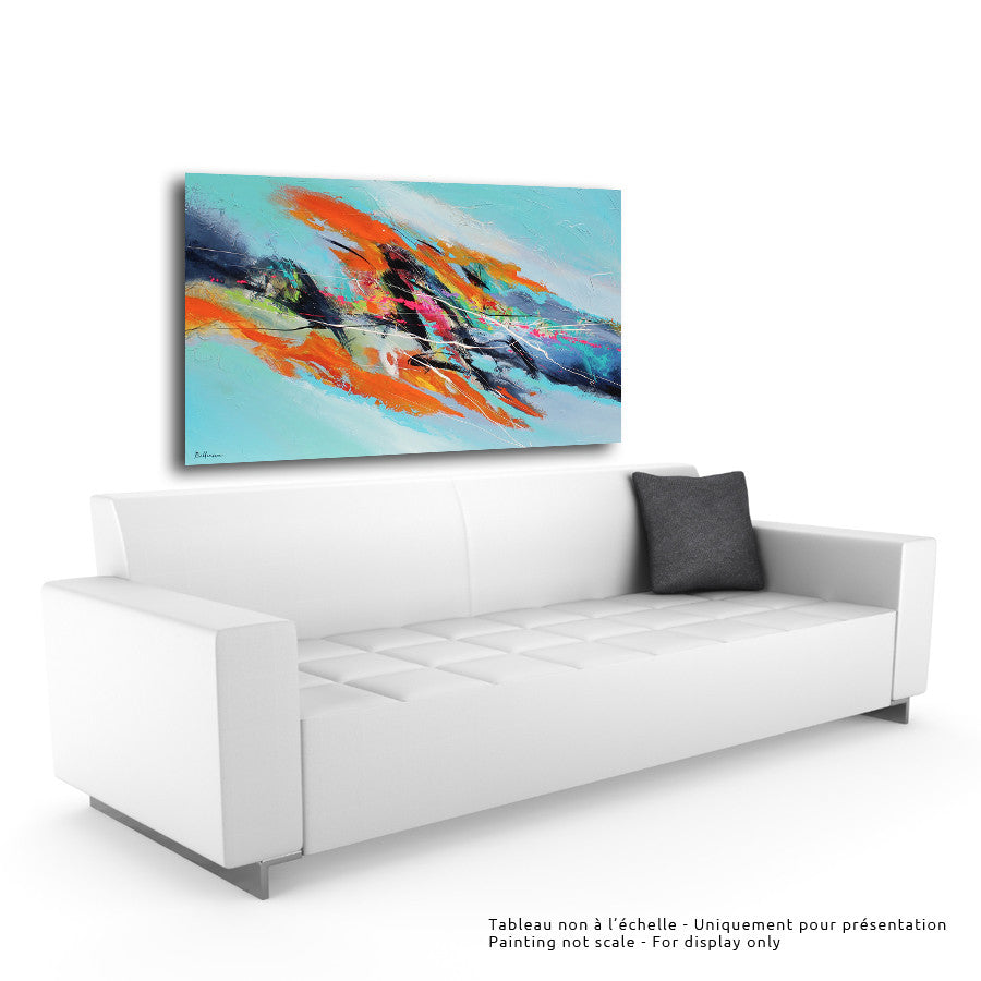 kigo 36x60 po/in Painting - Unique Abstract Art by Pierre Bellemare