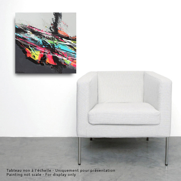 Led 20x20 po/in Painting - Unique Abstract Art by Pierre Bellemare