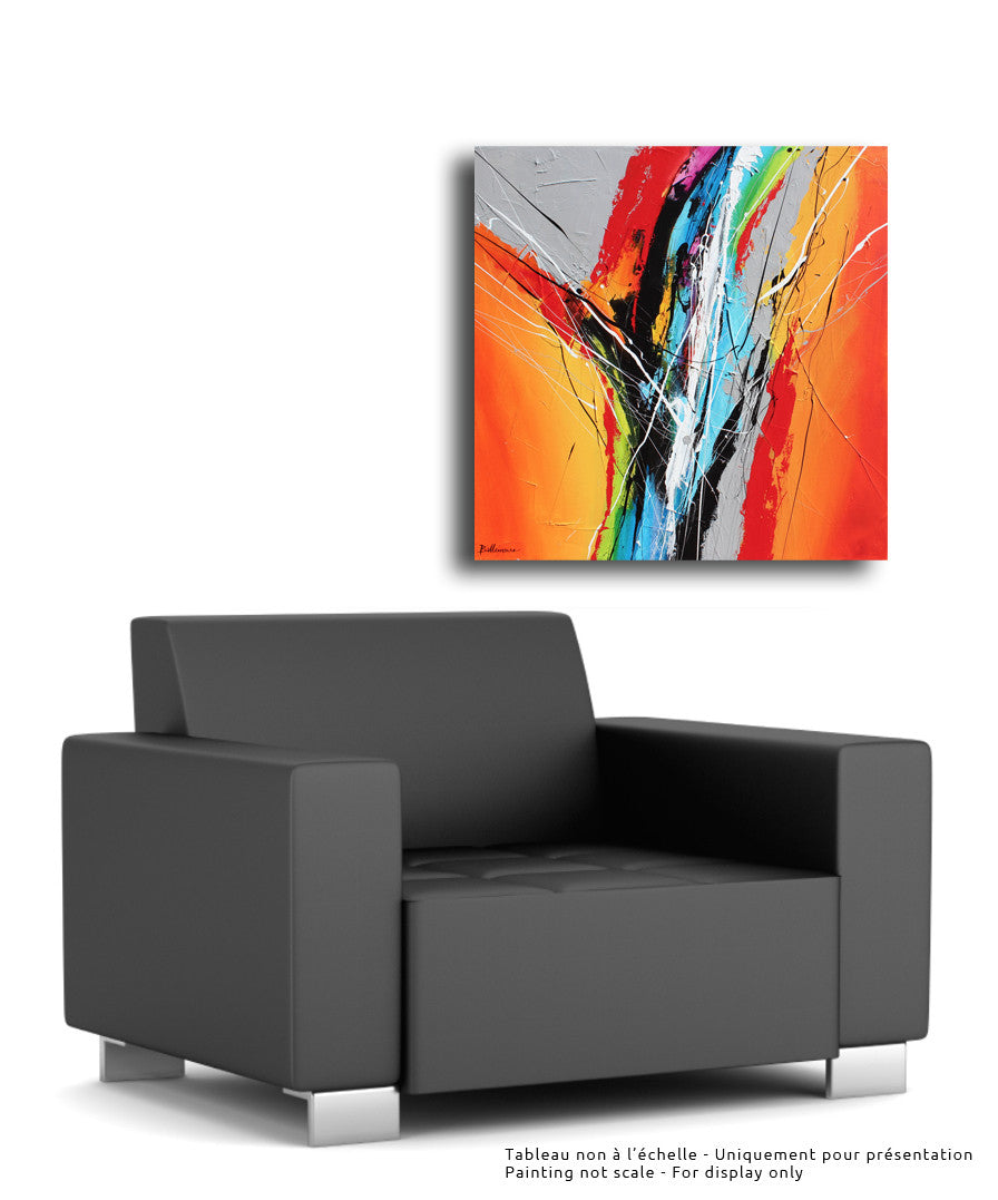 Highway 30x30 po/in Painting - Unique Abstract Art by Pierre Bellemare