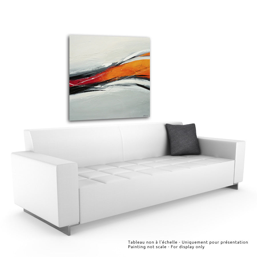 Magma 48x48 po/in Painting - Unique Abstract Art by Pierre Bellemare