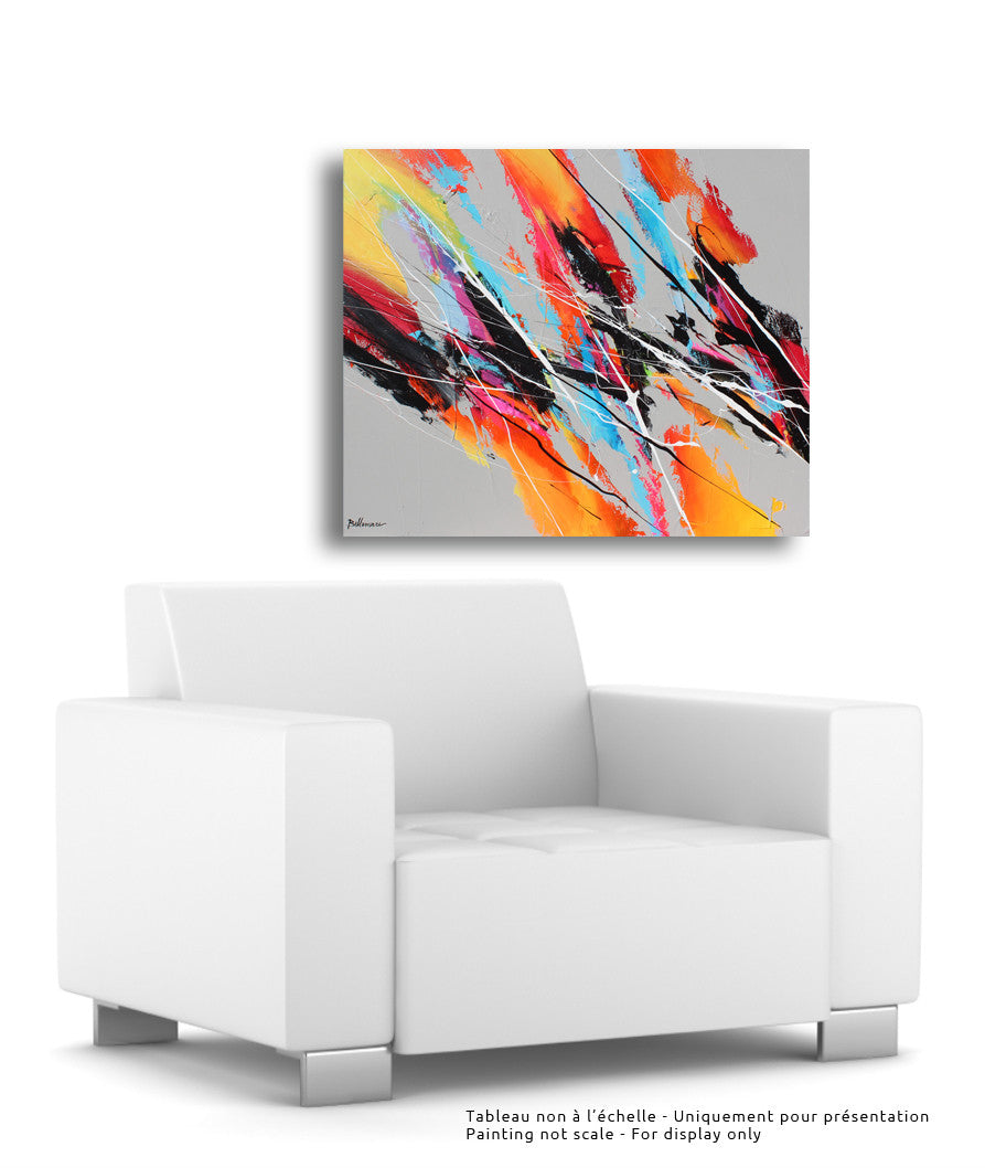 Motion 30x36 po/in Painting - Unique Abstract Art by Pierre Bellemare
