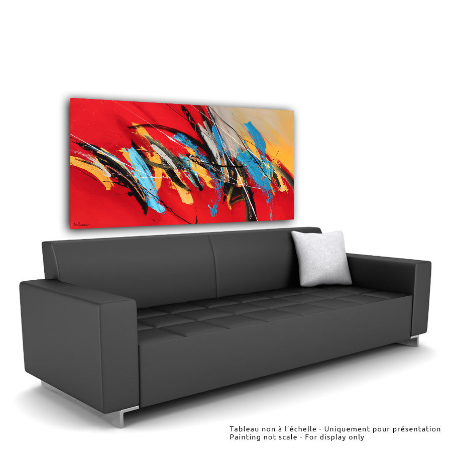 Move On 30x60 po/in Painting - Unique Abstract Art by Pierre Bellemare