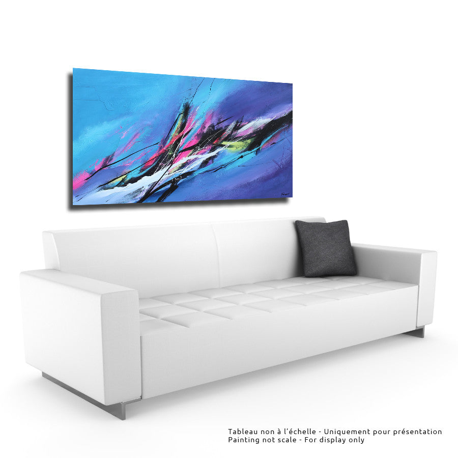 Northen Light 30x60 po/in Painting - Unique Abstract Art by Pierre Bellemare