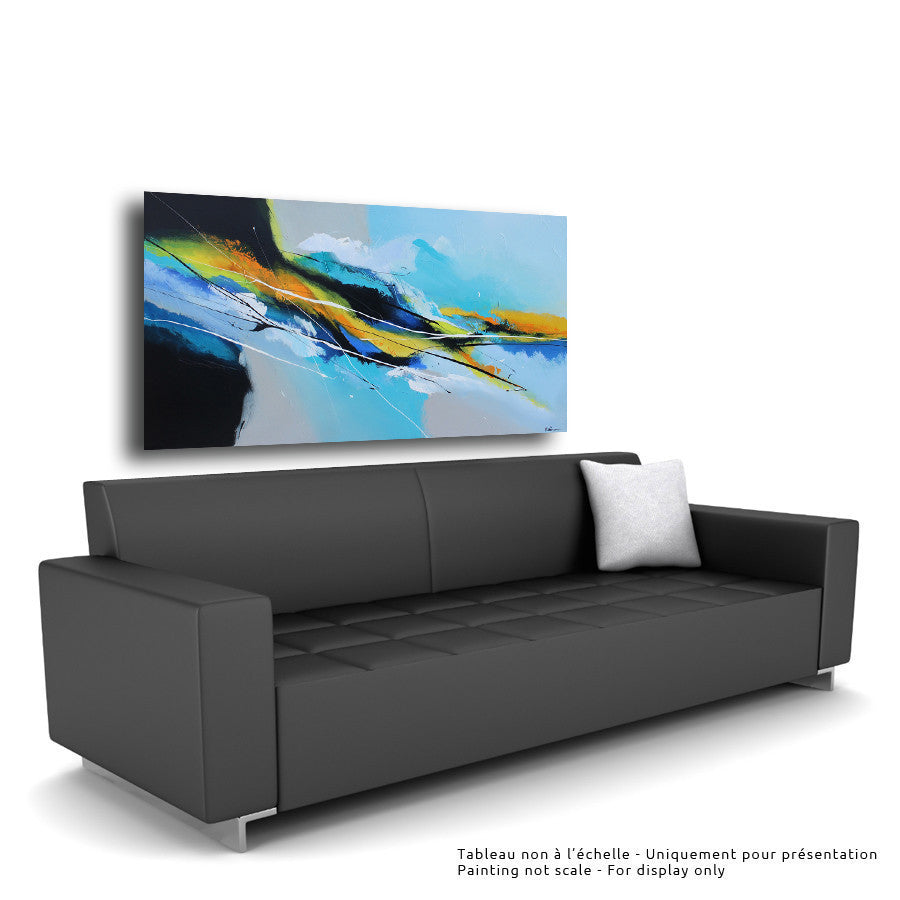 Océania 30x60 po/in Painting - Unique Abstract Art by Pierre Bellemare