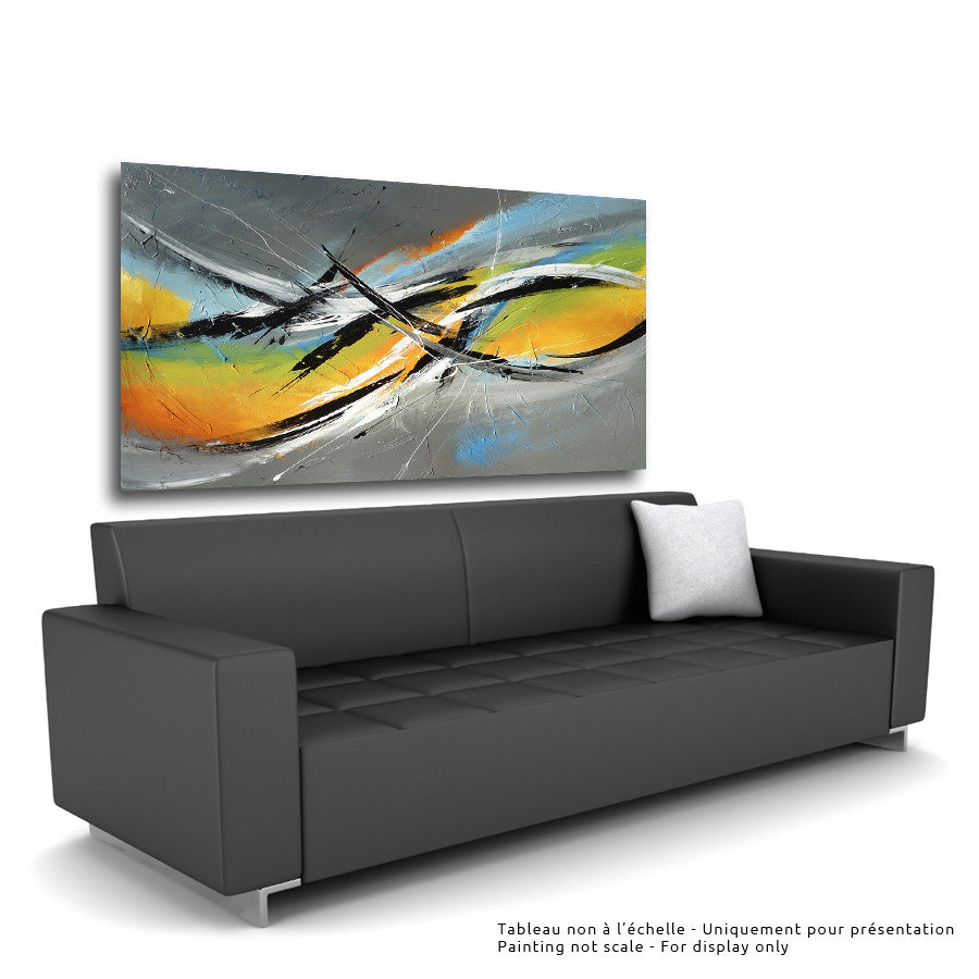 Primavera 36x60 po/in Painting - Unique Abstract Art by Pierre Bellemare