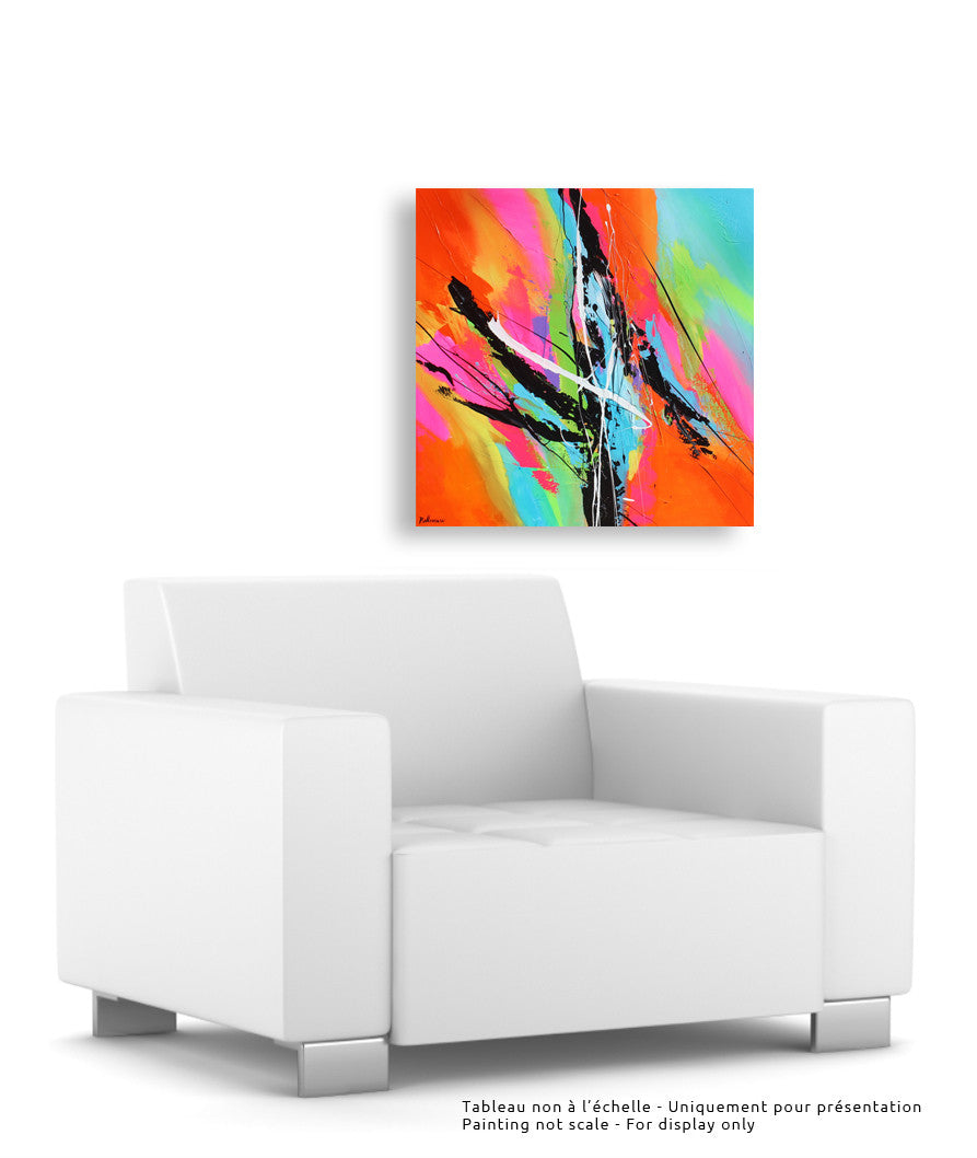 Rhapsody 24x24 po/in Painting - Unique Abstract Art by Pierre Bellemare