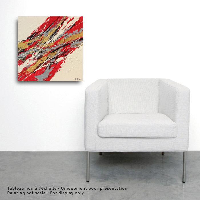 Sino 20x20 po/in Painting - Unique Abstract Art by Pierre Bellemare