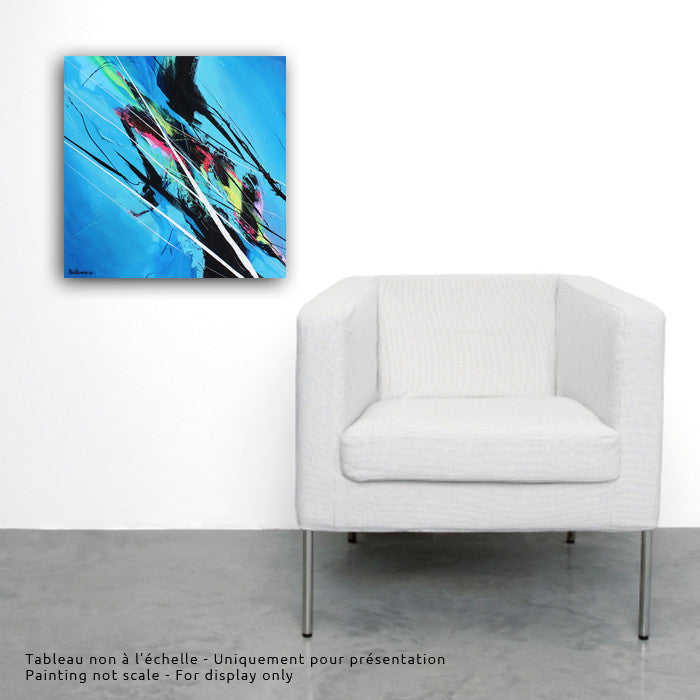 Sound Cloud 20x20 po/in Painting - Unique Abstract Art by Pierre Bellemare