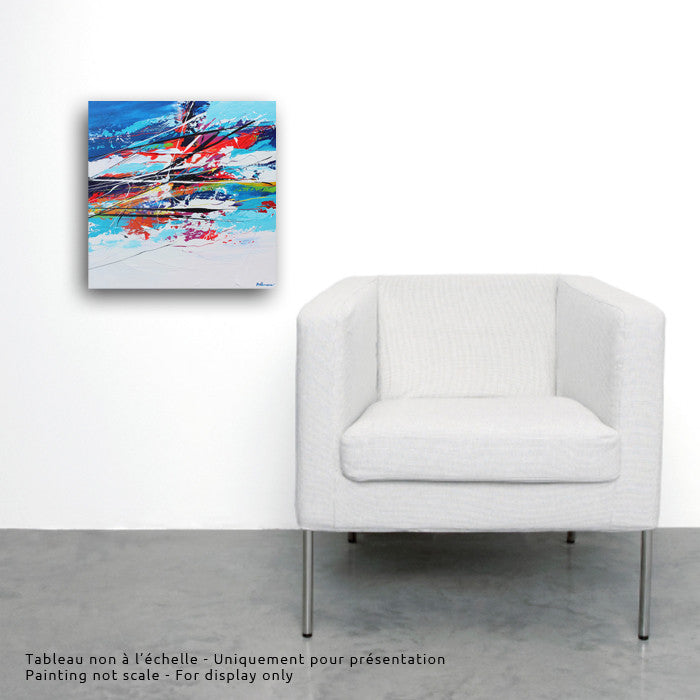 Surf 20x20 po/in Painting - Unique Abstract Art by Pierre Bellemare