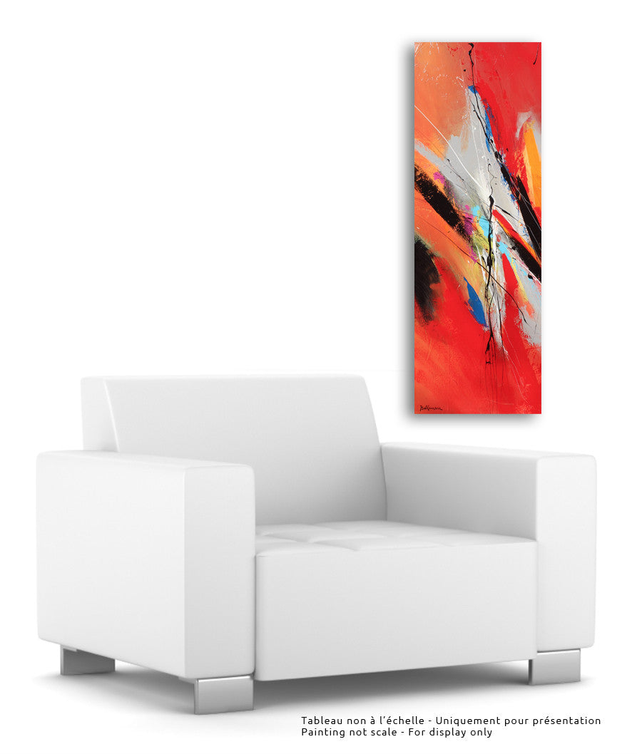 Verano 50x20 po/in Painting - Unique Abstract Art by Pierre Bellemare