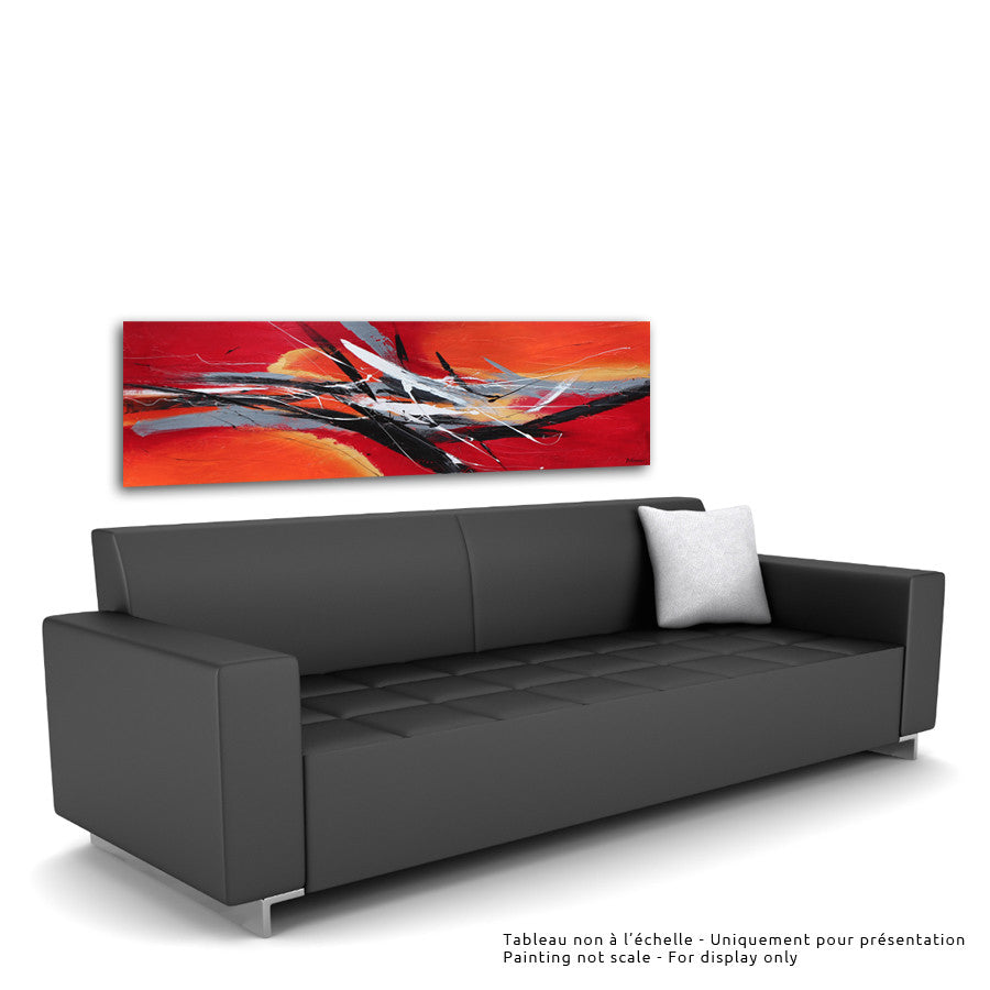 Wangfujing 24x72 po/in Painting - Unique Abstract Art by Pierre Bellemare