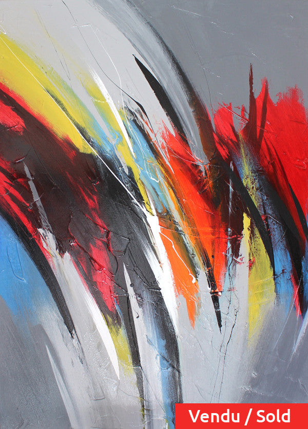 Déploiement 48x36 po/in Painting - Unique Abstract Art by Pierre Bellemare