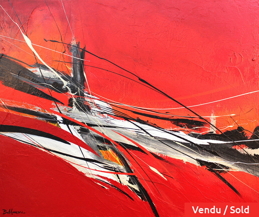 Force G 30x36 po/in Painting - Unique Abstract Art by Pierre Bellemare