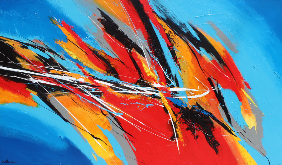 Opus 36x60 po/in Painting - Unique Abstract Art by Pierre Bellemare