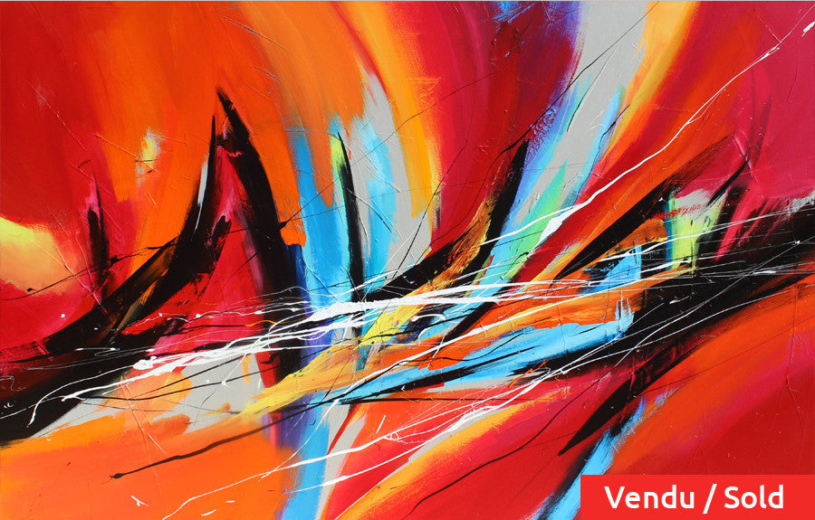 Percussion 48x72 po/in Painting - Unique Abstract Art by Pierre Bellemare