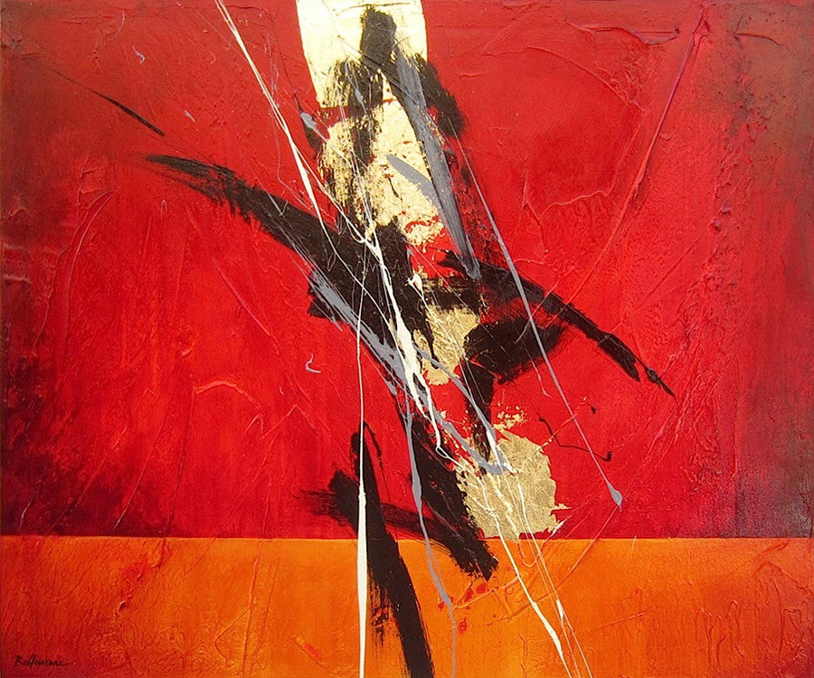Porte d'orient 30x36 po/in Painting - Unique Abstract Art by Pierre Bellemare