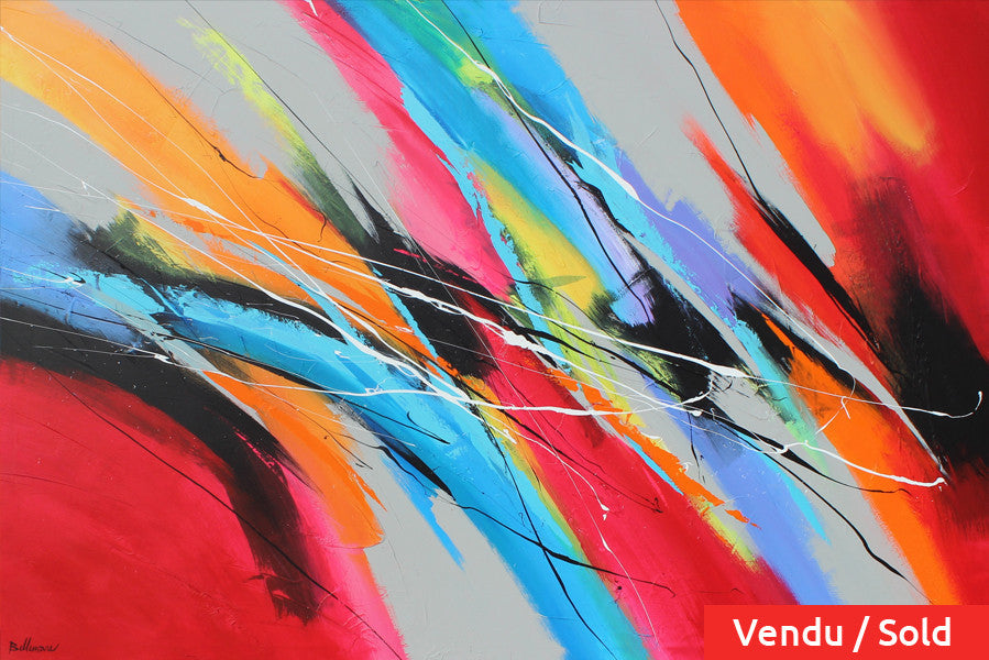 Sonos 48x72 po/in Painting - Unique Abstract Art by Pierre Bellemare