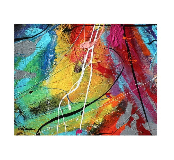 unitedcolors11 Painting - Unique Abstract Art by Pierre Bellemare