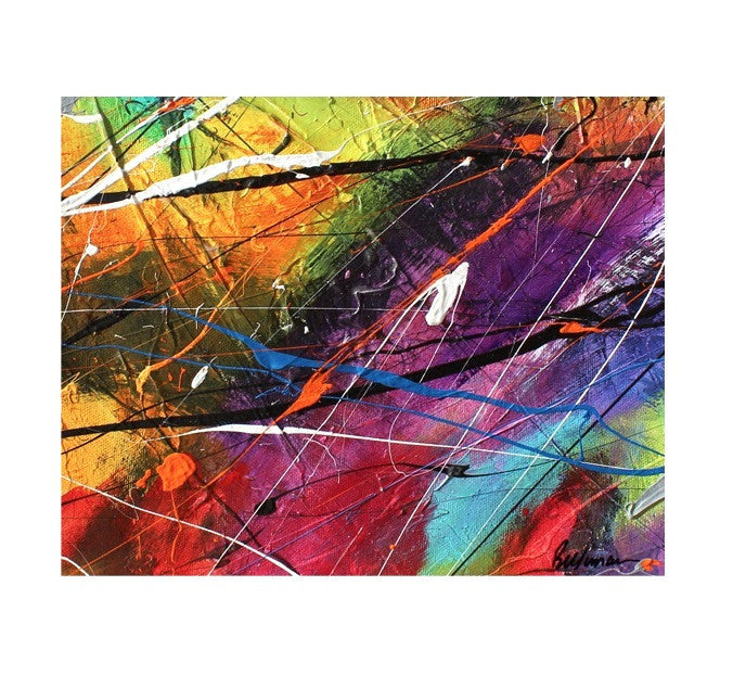 unitedcolors15 Painting - Unique Abstract Art by Pierre Bellemare