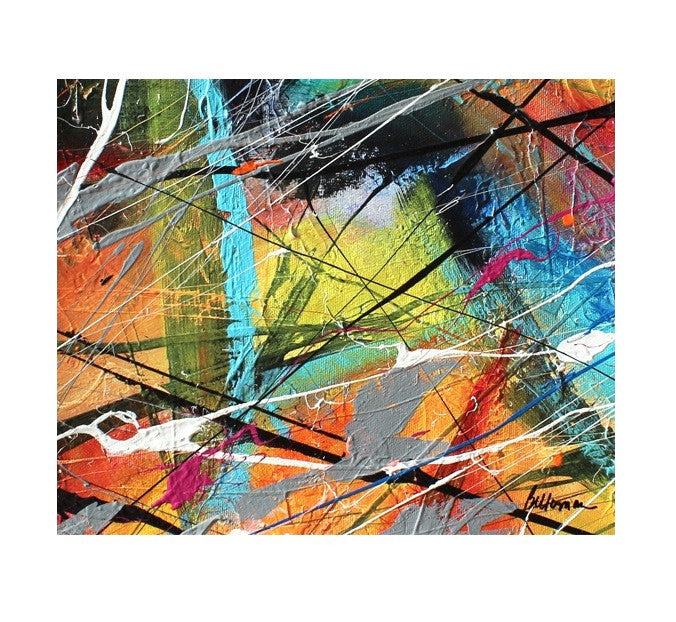 unitedcolors16 Painting - Unique Abstract Art by Pierre Bellemare