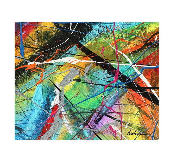 unitedcolors17 Painting - Unique Abstract Art by Pierre Bellemare