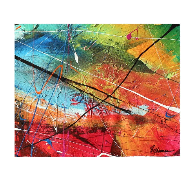 unitedcolor19 Painting - Unique Abstract Art by Pierre Bellemare
