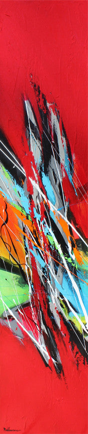 Vertigo 48x10 po/in Painting - Unique Abstract Art by Pierre Bellemare
