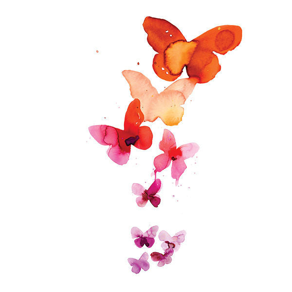 Tattly Temporary Tattoos - Coral Butterflies (set of 2)