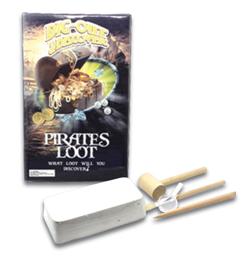 Children's Party Gift Bag - Dig-Out and Discover Pirates Loot