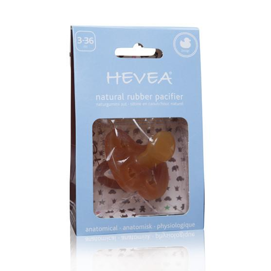 Hevea Natural Rubber Pacifier -  Duck Design (3-36 months)