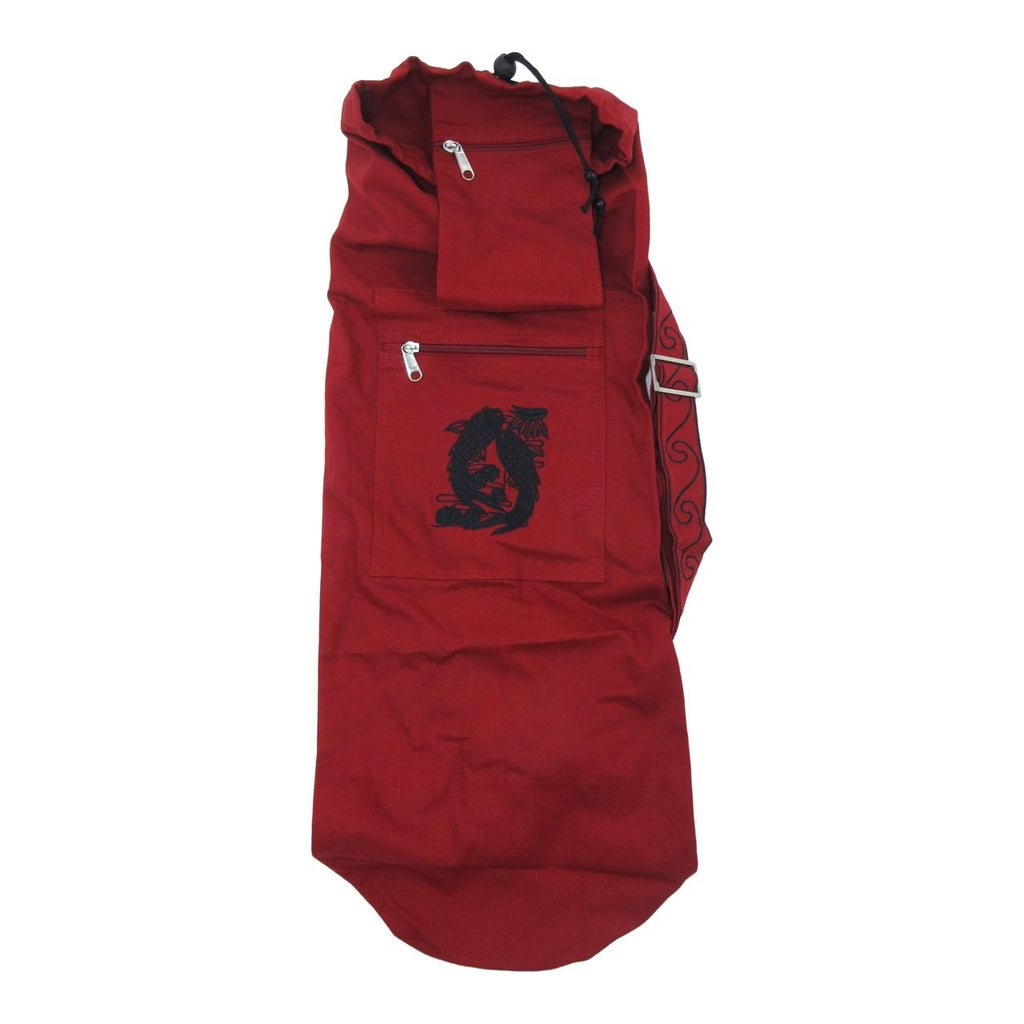 Organic Cotton Yoga Mat Bag - Koi Fish