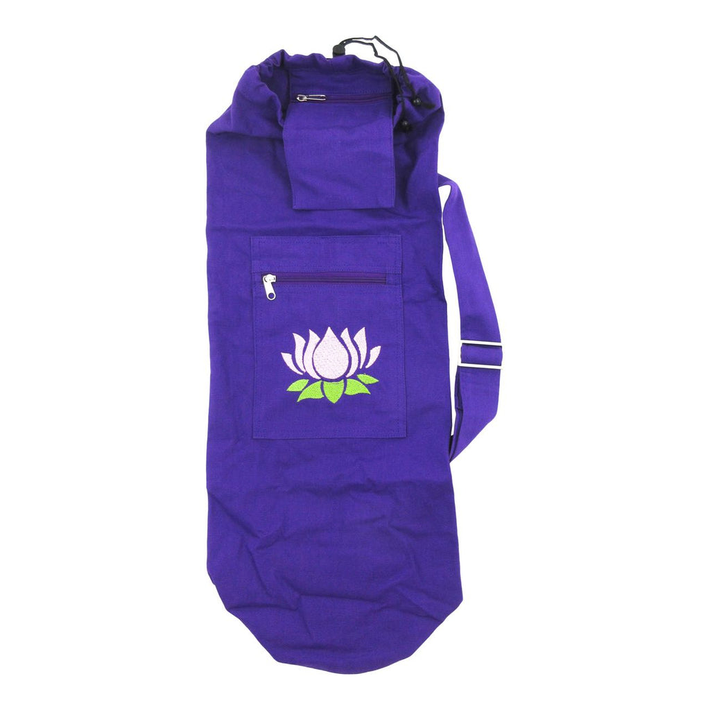 Organic Cotton Yoga Mat Bag - Lotus