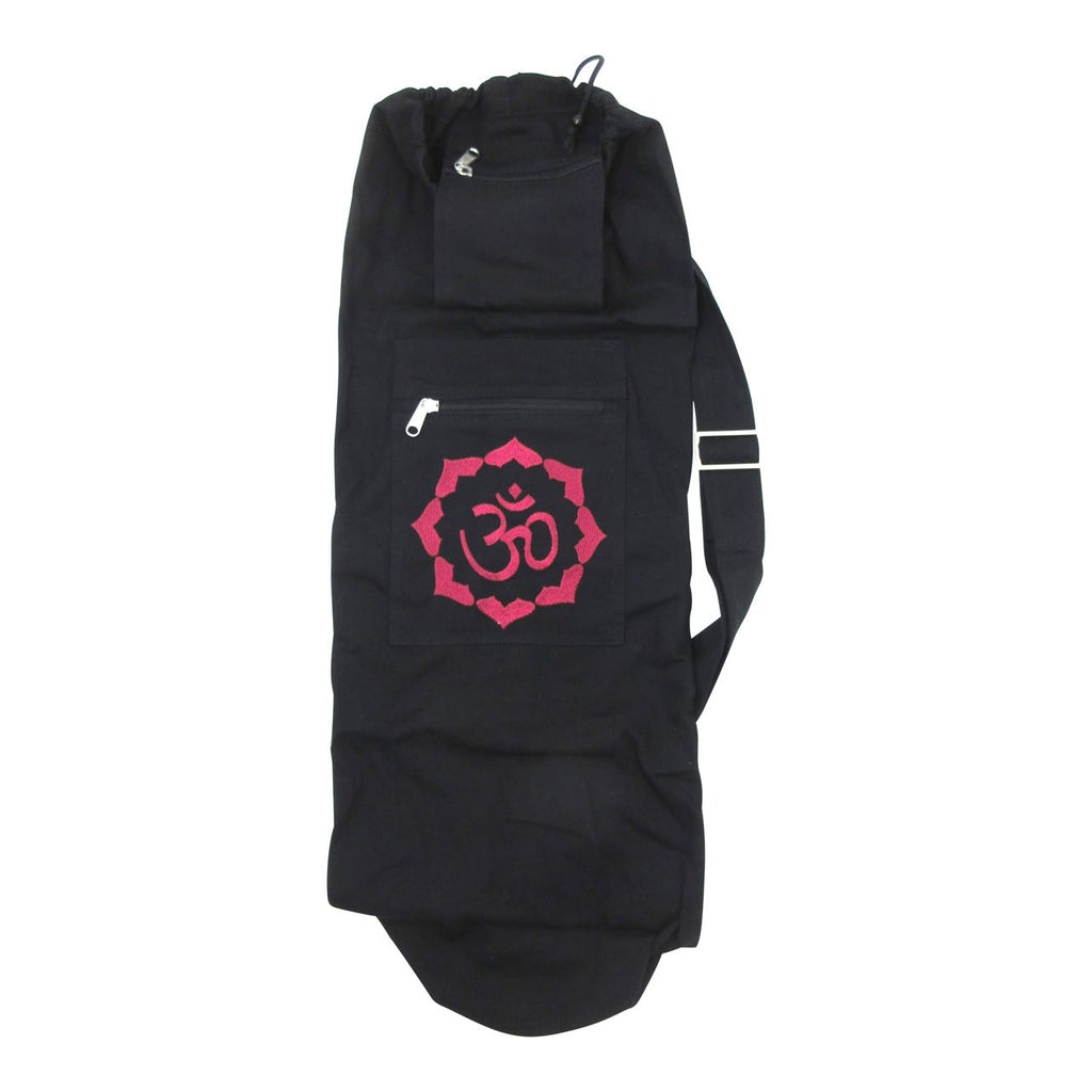 Organic Cotton Yoga Mat Bag - OM