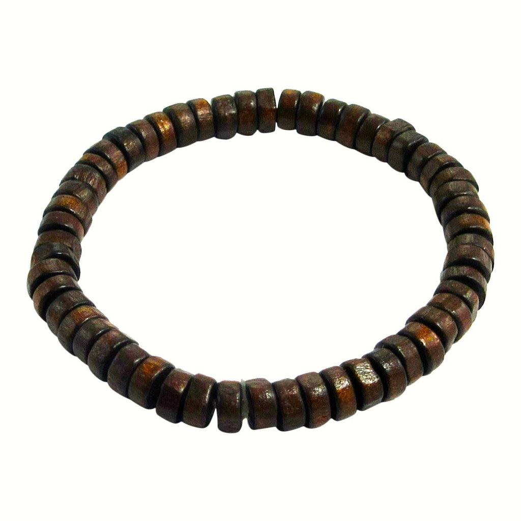 Leather & Wood Multi-Layer Bracelet