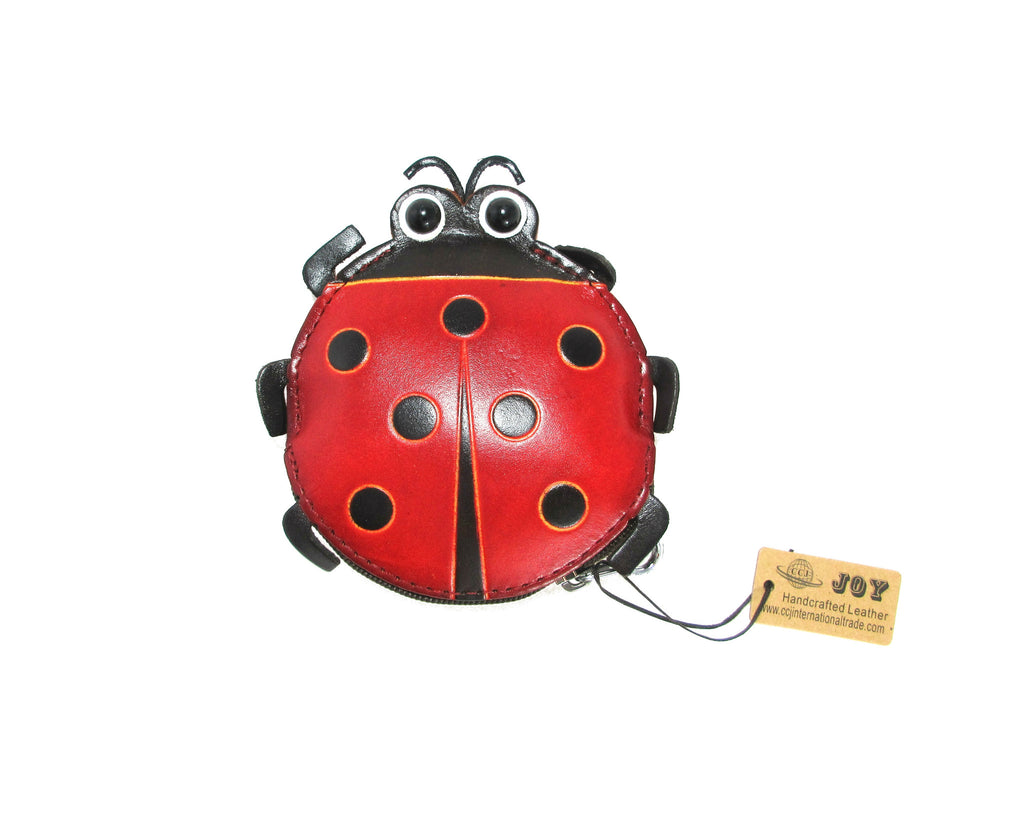 Leather Animal Wallet - Lady Bug