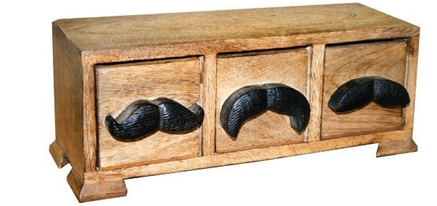 Mr. Mustache Box - 3 Drawer