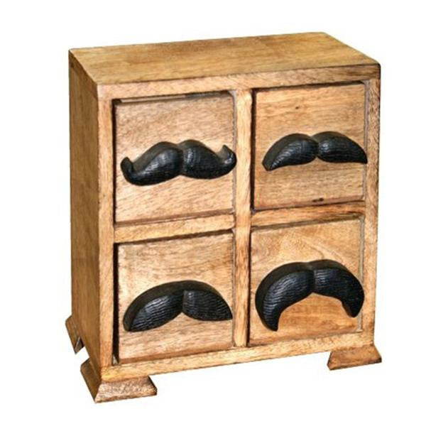 Mr. Mustache Box - 4 Drawer