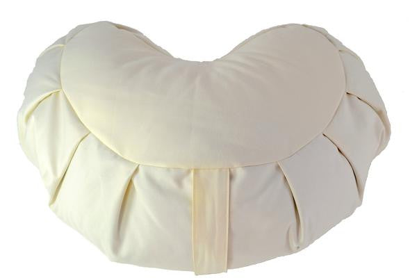 Dream Design's Organic Cotton Crescent Meditation Zafu