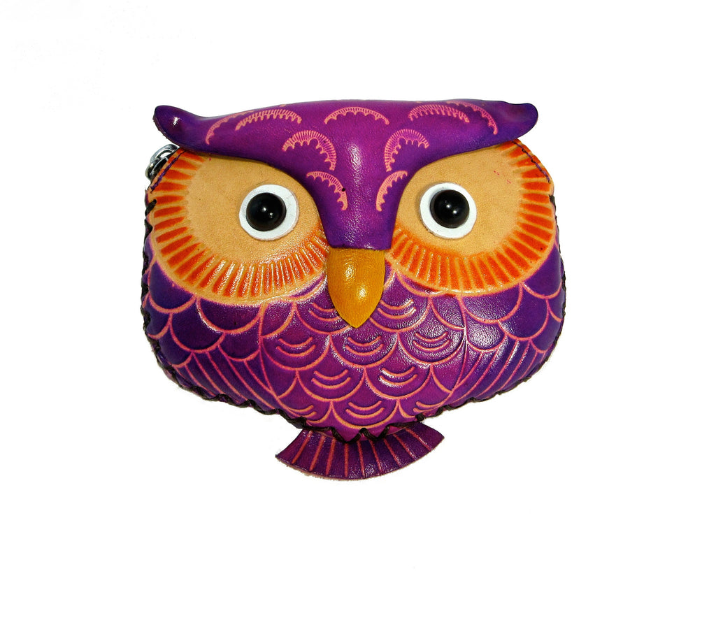 Leather Animal Wallet - Owl