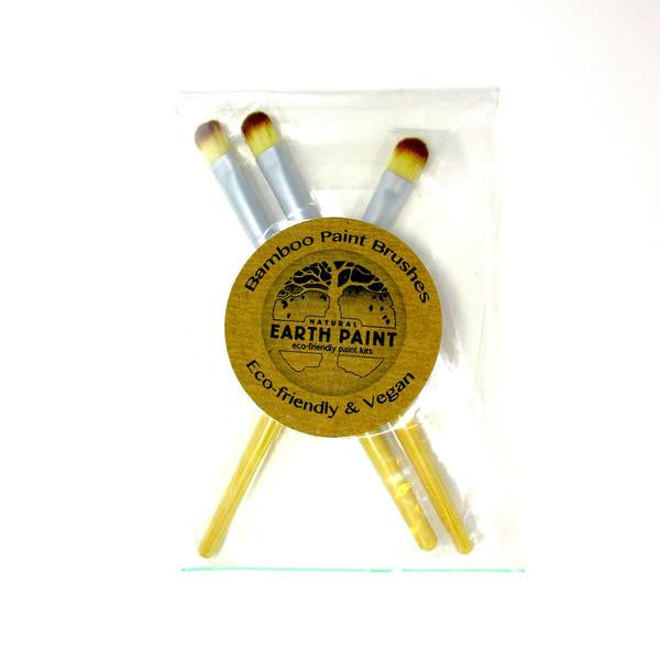 Natural Earth Paint - Natural Paint Brushes - Set of 3