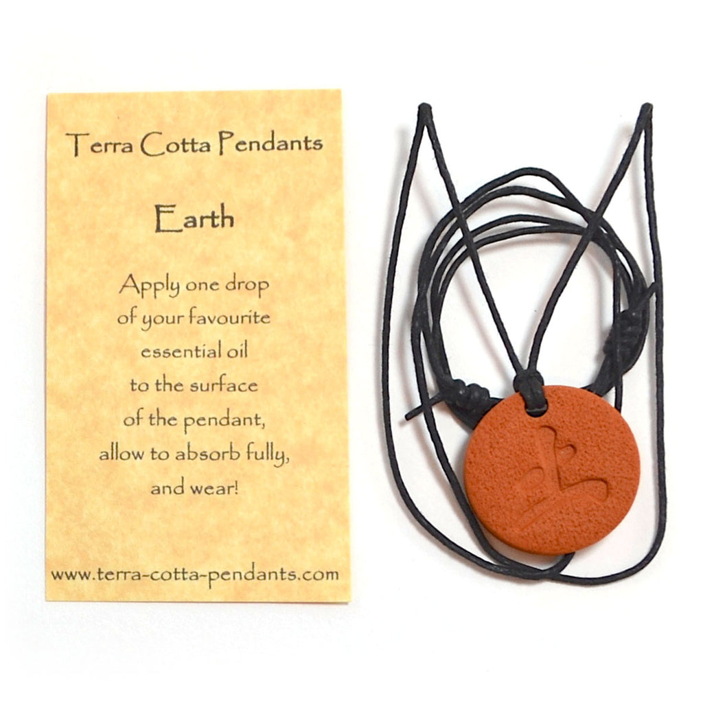 Terra Cotta pendant - Earth symbol