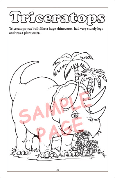 Coloring Book - Prehistoric Creatures