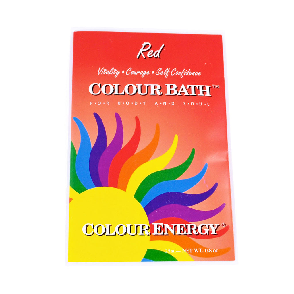 Colour Energy Red Colour Bath
