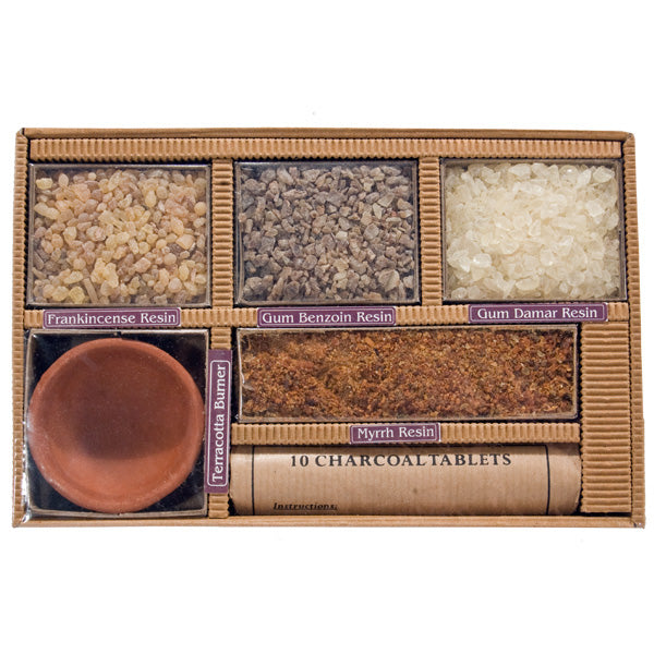 Resin Incense of India - 4 Pack Gift Set