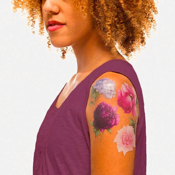 Tattly Temporary Tattoos - Perennial Set (scented)