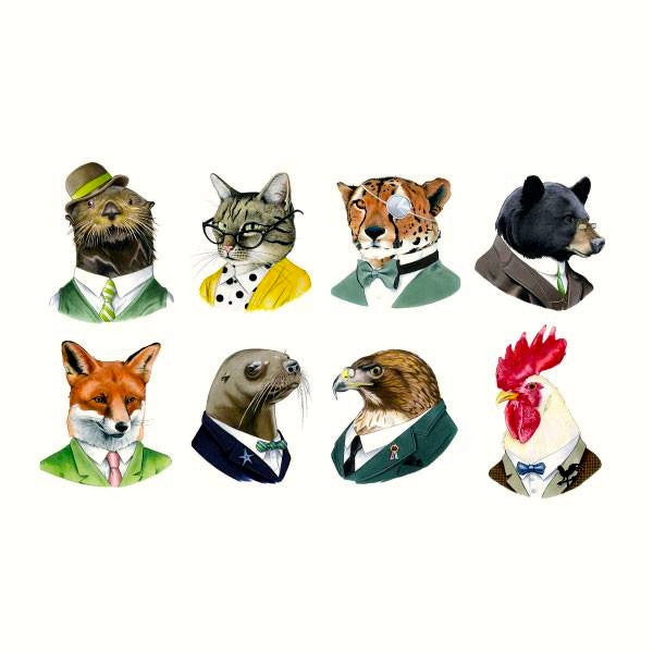 Tattly Temporary Tattoos - Animal Society Set