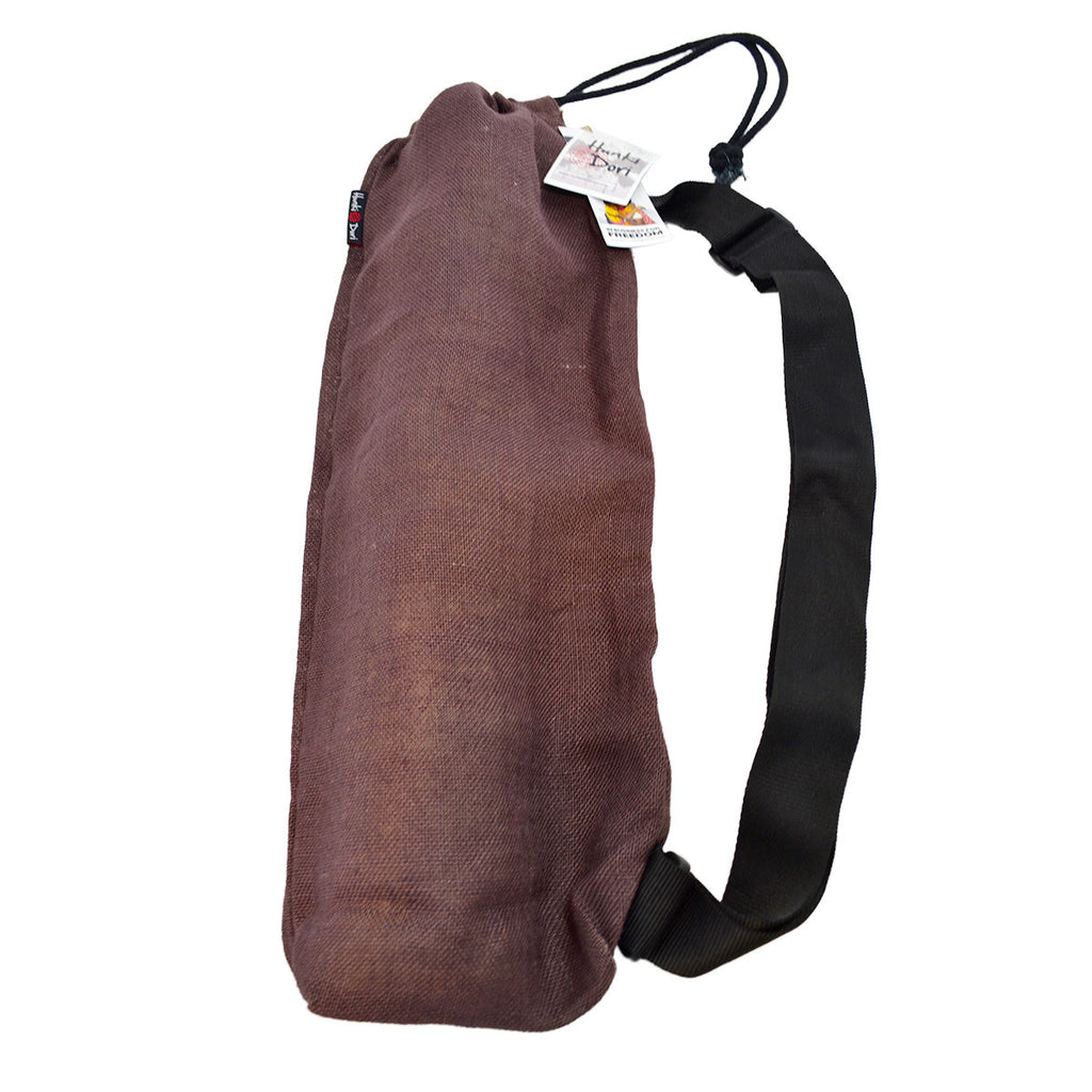 Hunki Dori Organic Cotton/Jute Yoga Bag - Chocolate Brown